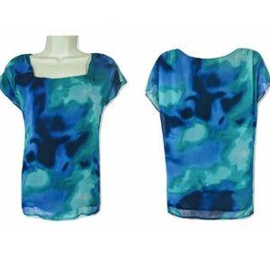 JONES WEAR Woman's Size 16 Blue Blouse